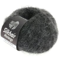 Silkhair Melange Fb. 719 schwarz/grau meliert