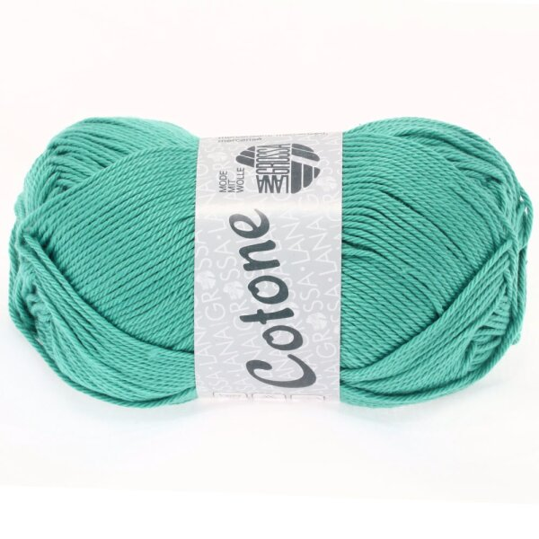 Lana Grossa Cotone 43 helles petrol 50 g Wolle Kreativ Fb