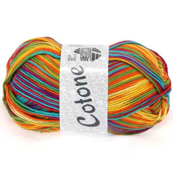 Cotone Print Fb. 306 gelb/orange/zyclam/grün