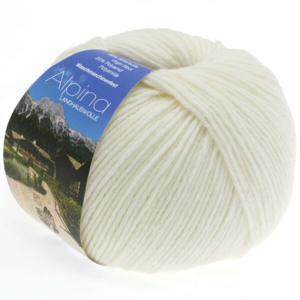 Alpina Landhauswolle Fb. 11 weiß
