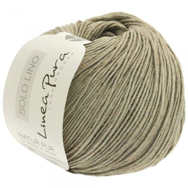 Fb Lana Grossa Solo Lino 20 resedagrün 50 g Wolle Kreativ