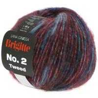 Brigitte No. 2 Tweed Fb. 104 burgund/petrol/grünblau