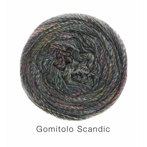 Gomitolo Scandic Fb. 504 gelb/lachs/rosa/grau