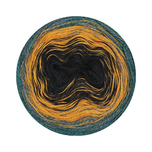 Lana Grossa Shades of Alpaca Silk grau//rot//orange 200 g Wolle Kreativ Fb