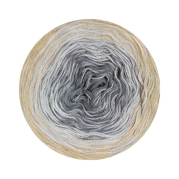 113 grau//lachs//ecru 200 g Lana Grossa Wolle Kreativ Shades of Cotton Fb