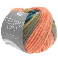 Feltro Print Fb. 393 lachs/petrolblau/taupe/graubraun